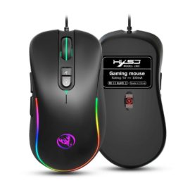 HXSJ J300 Wired Gaming Mouse - Black