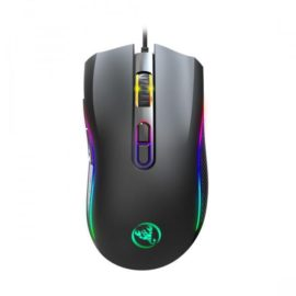 """HXSJ A869 Professional Gaming Mouse 7-Color LED Fiber USB Wired Mouse For Computer Game [6400 DPI] [Programmable] Ergonomic Game USB Computer Mice RGB Gamer Desktop Laptop PC Gaming Mouse Features - Product model:A869 Mechanical Macros Define the game mouse - 2.100% new mouse game - High-end brand mechanical macro definition gaming mouse - Human body engineering design - 7 programmable keys Specifications: - Light mode: RGB marquee effect light - 2.6-level adjustable DPI, Max.7200 DPI - Voltage rating I electric current: DC 5V /100mA - Report Rate:125Hz?250Hz?750Hz?1000Hz - USB plug and play - Switch life: 20million cycle - Cable length: 150cm - Item Weight:146g - Item Size:1277040mm(L WH) - Package Weight : 194g - Package Size: 1558547MM - Support Windows 2000 /XP 1 win71 win8 /win10 Vista 32bit IOS or latest. How to use: Insert the driver CD to computer, and run the """"setup.exe"""" installation. The installation can be started when the mouse is successfully connected and in normal use. When the installation is completed, """"A869 Gaming Mouse_V1.0"""" drive icon appears on the desktop. Adop Sunplus 6651B professional game chips, with high-performance program control decoder chip, to achieve smooth movement and precise control. Office Mode: For key 1-7 (as the picture shows), Default Office Mode Interface 6.Game Mode: the custom macro editing for gaming effects are supported. Advanced: 1000-1600-2400-3200-4800-7200DPl, available six-stage acceleration and deceleration, DPI speed corresponding to the color of the light ,Switch by DPl Pointer precision, scroll wheel speed and double-click speed can be set. Light LED Mode(DPI Mode/ Colorful Light /Rainbow /Floe Light/Waltz /4-Seasons /OFF) Macro: Macro Creation and Change Settings Plug and play, more new functions can be achieved via the drive. When settings done, click Application, and click Save the Configuration. You should boot the driver again when next use so that all the self-defined functions can be used. What's in the """