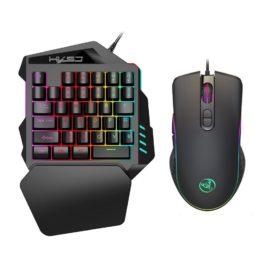 HXSJ V100 35 Key Single Hand Mini Gaming Keyboard with Mouse