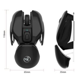 HXSJ T37 2.4GHz 1600dpi 3-modes Adjustable Wireless Mute Mouse Black